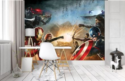 Marvel Civil War wall mural wallpaper